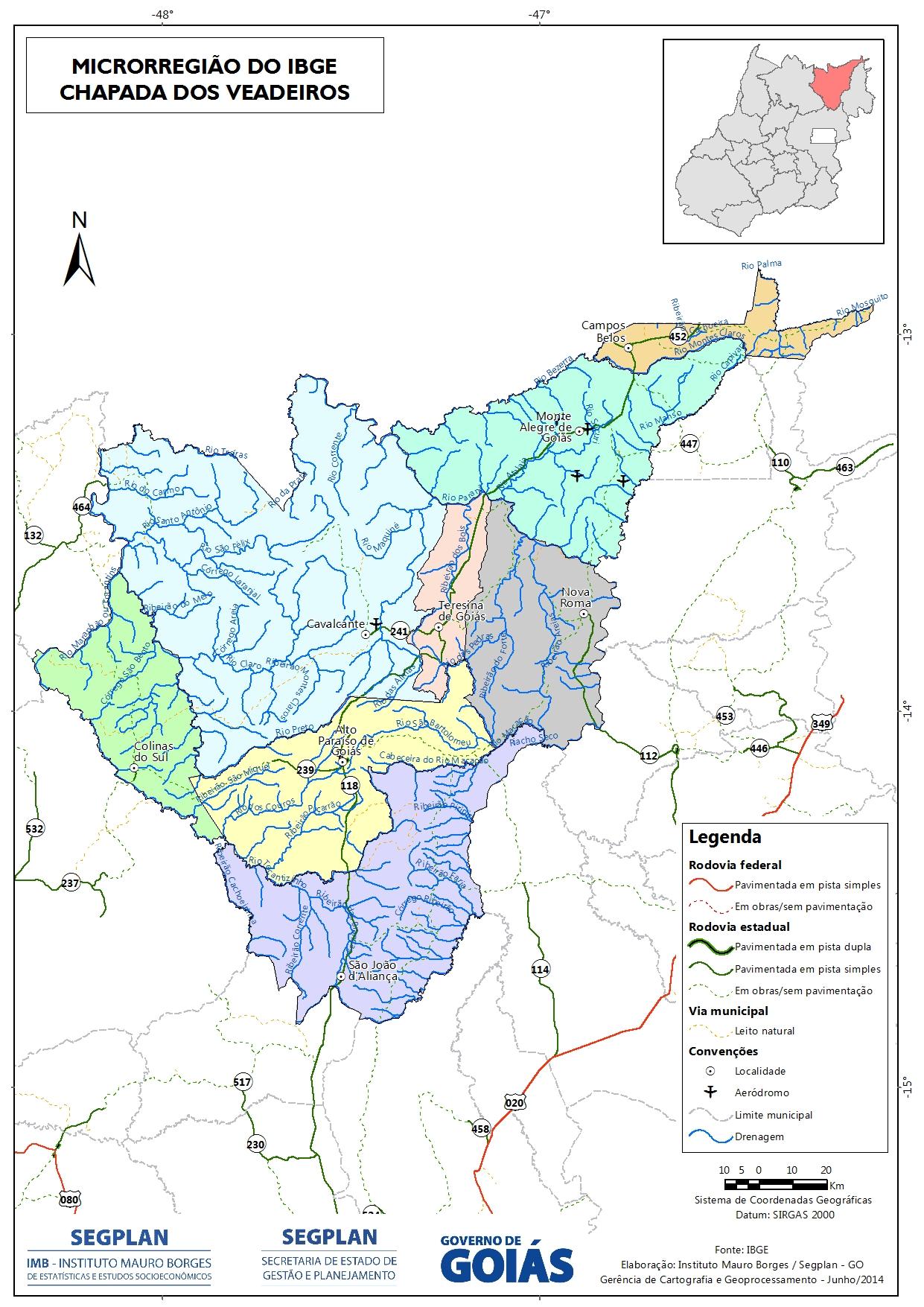 Mapas das Microrregiões do Estado de Goiás - IBGE